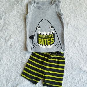 Toddler shark bedtime bites pajama set
